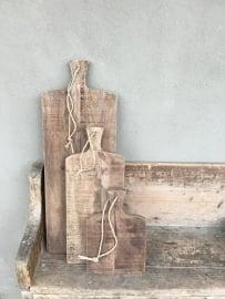 Hele stoere houten grote plank broodplank 30 cm landelijk Brocant stoer naturel