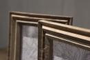 Oud houten fotolijst fotolijstje lijst lijstje op pin standaard voet voetje landelijk vintage industrieel