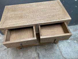 Prachtig landelijk oud houten wandmeubel dressoir haltafel haltafeltje 90 x 45 x H80 cm Sidetable ladekast wastafelmeubel