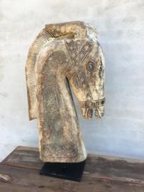 Enorm groot houten paardenkop paardekop paard 90 cm horse paardehoofd landelijk