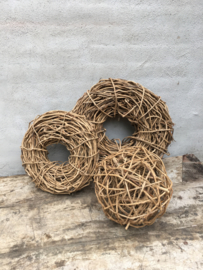 Naturel houten takken bol bollen bal 40 cm ballen decoratiebol landelijk