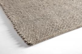 Groot handgewoven 100 % vervilt wol vloerkleed kleed carpet karpet taupe 240 x 170 cm