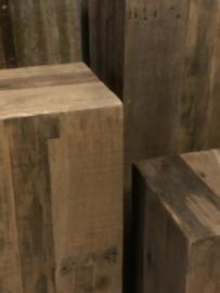 Houten zuil, oud hout 35x35x100