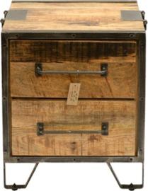 Stoer houten industrieel landelijk kastje kastjes kast ladenkast ladenkastje nachtkastjes ladekast nachtkastje