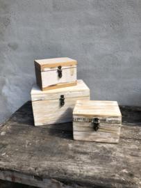 Leuke sloophouten kistjes kistje kist klein vintage sloophout
