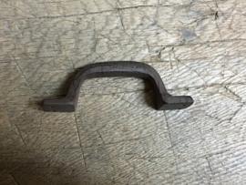 Zware kwaliteit gietijzeren deurknop handgreep greep 12 cm strak bruin beugel handvat bruin klink deurklink