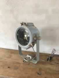 Grote originele oude Industriele hanglamp spot wandlamp hanglamp plafondlamp tafellamp schijnwerper fabriekslamp landelijk zink grijs stoer industrieel lamp