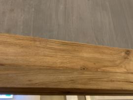 Grote teakhouten spiegel 200 X 100 cm passpiegel doorleefd oud hout landelijk industrieel