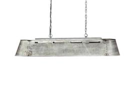 Industrieel metalen hanglamp bak metaal grijs landelijk stoer vintage  80 cm