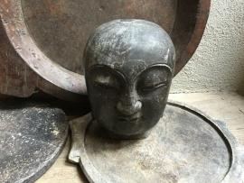 Groot hardstenen buddha budha boedha Boeddha hoofd beeld grijs
