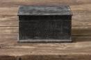 Stoer zwart mat grijs houten kistje kist landelijk stoer industrieel vintage urban hout black finish