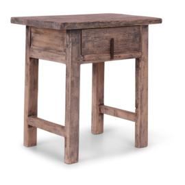 Stoere vergrijsd houten Sidetable tafel kast ladekast ladekast landelijk sober stoer lade la oud hout haltafel