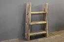 Grote stoere oud houten kast schap 120 x 86 cm rek stoer robuust boekenkast keukenkast landelijk industrieel
