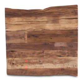 houten tafelblad hout houten blad robuust stoer paneel 80 x 80 cm oud grenen