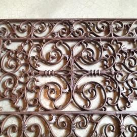 Gietijzeren deurmat wandpaneel hek rek rooster landelijk gietijzer 73 x 46 cm rechthoekige