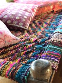 Gaaf houten touw bed daybed charpai loungebed sofa dybed 183 x 106 x 50 cm kleur colour color lounge bank logeerbed kinderbed hondenbed landelijk stoer sober vintage