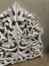 Stoer landelijk oud houten wandpaneel wit raampaneel wandornament wanddecoratie hout panelen luiken