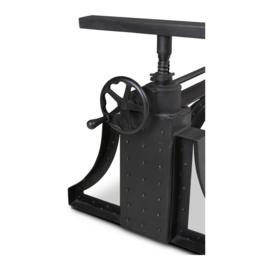 Super stoer metalen onderstel ijzer tafel industrieel vintage landelijk zwart metaal