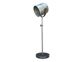 Stoere vloerlamp staande lamp zink grijs industrieel landelijk metaal vintage