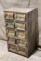 Oud houten 10 ladenkast ladekast Steenmal baksteenmal ladenkastje ladekastje kast kastje Vakkenkast grutterskast landelijk stoer industrieel grof ruw hout