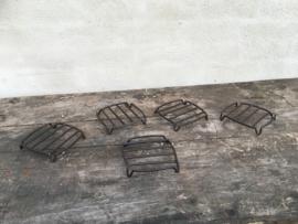 Smeedijzeren onderzetter vierkant metaal metalen bruin vintage landelijk industrieel