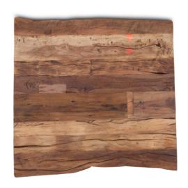 houten tafelblad hout houten blad robuust stoer paneel 70 x 70 cm oud grenen
