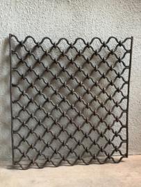 Oud metalen hek rek Wandpaneel wanddecoratie landelijk stoer industrieel vintage metaal ijzer urban
