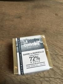 Savon de Marseille blok ruwe zeep olijf olijven 72% d'huile olive  200 gr