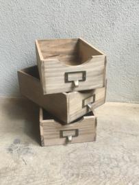 Stoere houten bak bakje laatje nieuw hout gruttersbak schap box landelijk stoer robuust hout