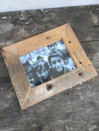 Sloophouten fotolijst fotolijstjes fotolijstje lijst lijstje naturel frame foto photo vintage landelijk