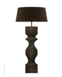 Stoere  mat  houten balusterlamp stoer industrieel Rovigo X-large Tierlantijn Frezoli ballusterlamp vloerlamp 120 cm tafellamp landelijk stoer robuust
