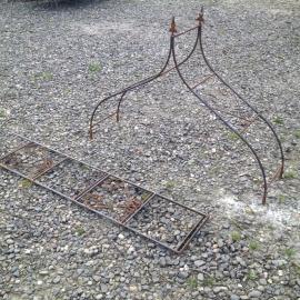 Smeedijzeren rozenboog punt klimplant rek hek