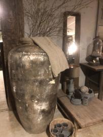 Grote oude kruik India XL Olijfpot olijfkruik vaas stoer robuust