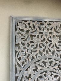 Prachtig groot Wandpaneel wandornament paneel luik ash grey wanddecoratie landelijk shabby taupe grijs 120 x 60 cm