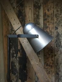 Industriële vintage vloerlamp landelijk staande lamp zink metaal metalen