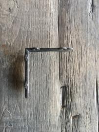 Gietijzeren schapdrager plankdrager hoekijzer planken steun 12 cm zwart zwarte plankensteun beugel haak hoek middel strak