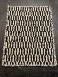 Staal vloerkleed Durrie in wol