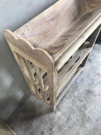 Houten rek schap kast keukenrek landelijk stoer hout 92 x 31 x 61 cm