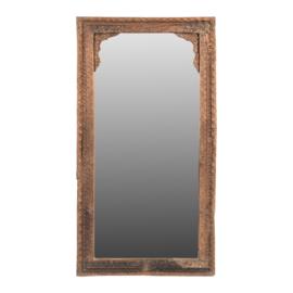 Oude houten spiegel 100 x 53 x 7  cm landelijk vintage India