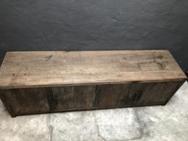 Stoer railway houten tv-meubel dressoir sidetable televisiekast kast 180 x 45 x H55 cm wandmeubel landelijk industrieel