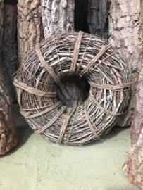 Mooie robuust naturel vergrijsde krans 30 cm landelijke stijl shabby