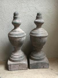 Houten ornament baluster kegel pion console hout stoer landelijk