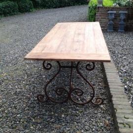 Smeedijzeren tafel onderstel krul 145 X 80 cm tafelonderstel landelijk tuintafel