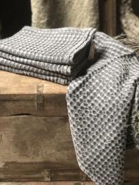 Prachtige donker grijze handdoek gastendoekje gastendoekjes theedoek doek 70 x 50 cm