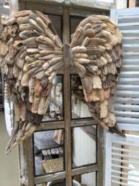 Driftwoodgrote vergrijsd houten vleugels engelen vleugels 75 x 75 cm  landelijk