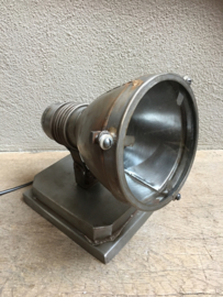 Grote metalen industriële spot wand muur vloerlamp tafellamp industrieel grijs spotje hang lamp landelijk vintage