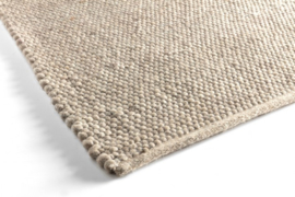 Groot handgewoven 100 % vervilt wol vloerkleed kleed carpet karpet beige 240 x 170 cm