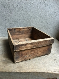 Stoer houten mand kratje krat la lade vintage landelijk kistje schaal bak