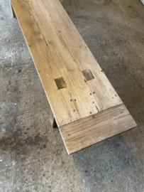 teakhouten bank eettafelbank 200 cm houten bankje tuinbank landelijk stoer hout teakhout