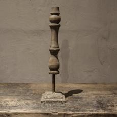 vergrijsd houten kandelaar kandelaars ornamenten sophie ornamentjes grijs vergrijsd hout landelijk stoer